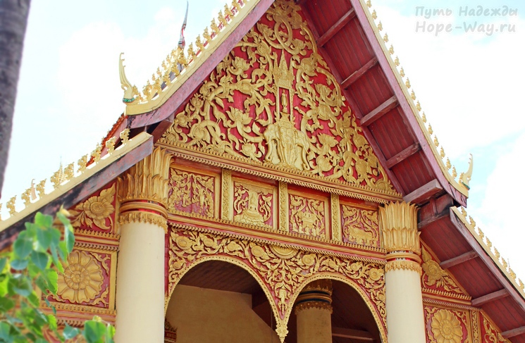 Beautiful Buddhist temple in Vientiane Laos